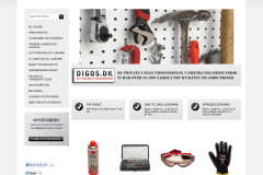 Digos.dk online byggemarket, webshop administration