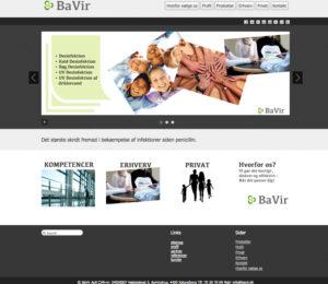 BaVir ApS, hjemmeside design, logo, concept development