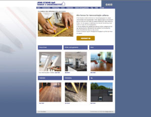 Jens Stæhr ApS, hjemmeside design