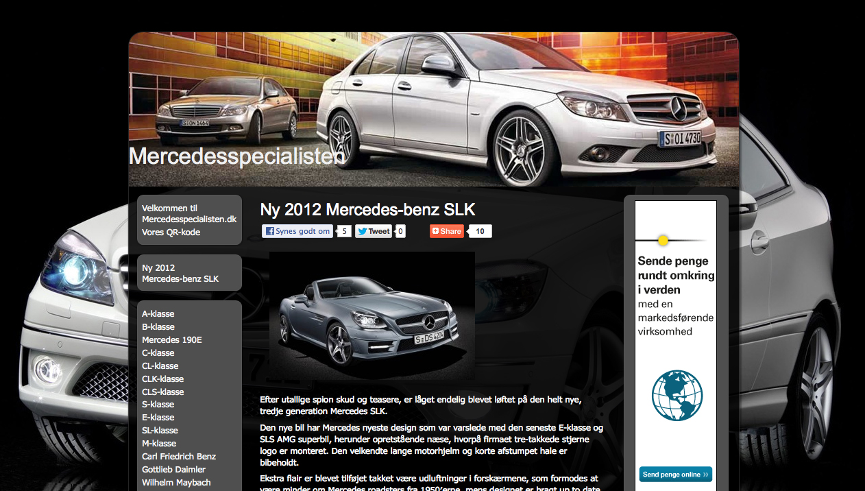 WordPress CMS, blog design