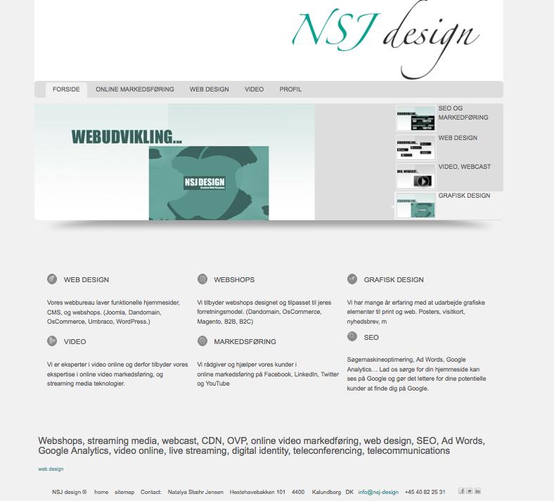 HTML5, CSS3 hjemmeside design